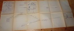 DECAZEVILLE Aveyron Plan Aérage Mines Bourran Soulacre 1965 Mineurs Charbon - Planches & Plans Techniques