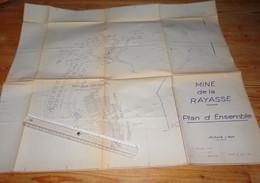 DECAZEVILLE Aveyron Plan D'ensemble Travaux Mine De La Rayasse 1965 Mineurs Charbon - Planches & Plans Techniques
