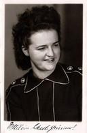 Carte Photo Originale Portrait Studio De Jeune Femme & Correspondance En 1948 - Pin-ups