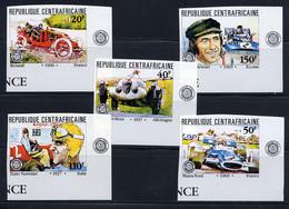 CENTRAFRICAINE 1981, Grand Prix, Voitures De Course, 5 Valeurs, NON DENTELES / IMPERFORATED, Neufs** / MNH. R2334 - Cars