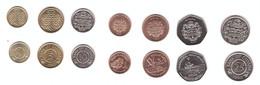 Guyana - Set 7 Coins 1 5 10 25 Cents 1 5 10 Dollars 1990 - 2013 AUNC / UNC Lemberg-Zp - Guyana