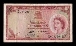 Rhodesia & Nyasaland 10 Shillings 13.01.1961 Pick 20b BC+ F+ - Rhodesia