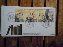 OCB Nr 3995/99 Literatuur Rimbaud Baudelaire Multatuli Havelaar Victor Hugo Stempel Roeselare FDC ( GrisBox) - 2001-10