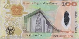 TWN - PAPUA NEW GUINEA 37a - 100 K. 2008 35th Ann. Bank Of PNG - Hybrid - Prefix BPNG - Signatures: Bakani & Tossali UNC - Papua Nuova Guinea