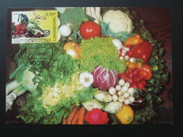 Carte Maximum Card Légumes Vegetable Horticulture Luxembourg 2006 - Vegetables