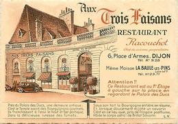 -cpsm -ref AA420- Restaurant Aux Trois Faisans -racouchot - A Dijon - Meme Maison A La Baule Les Pins - - Ristoranti