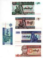 Myanmar / Lot De 5 Billets / UNC - Myanmar