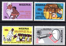 NIGERIA - 1978 SMALLPOX ERADICATION SET (4V) FINE MNH ** SG 384-387 - Nigeria (1961-...)