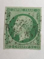 12 Type 1 Défectueux: Mince Sous Charnière Et Abimé Marge Droite Pour étude. Cachet étoile Petits Chiffres 3578 Cote100€ - 1853-1860 Napoléon III.