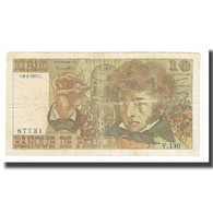 France, 10 Francs, 1975, 1975-02-06, TB, Fayette:63.8, KM:150b - 10 F 1972-1978 ''Berlioz''