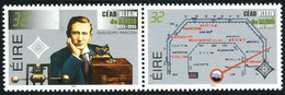 Ireland, 1995 Radio Centenary, G.Marconi, Pair, 2 Stamps. MNH Rare - Joint Issues