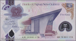 TWN - PAPUA NEW GUINEA 51 - 5 Kina 2016 (2017) Polymer - Prefix AM - Signatures: Bakani & Vele UNC - Papua Nuova Guinea