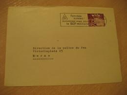DELEMONT 1959 To Bern SCF Militar Femmes Suisses Cancel Frontal Front Cover SWITZERLAND - Brieven En Documenten