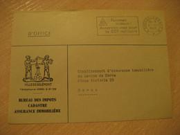 DELEMONT 1965 To Bern SCF Militar Femmes Suisses Cancel Postage Paid Frontal Front Bureau Des Impots Cover SWITZERLAND - Cartas
