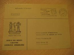 DELEMONT 1971 To Bern Hospital Nurse Nursery Cancel Postage Paid Frontal Front Bureau Des Impots Cover SWITZERLAND - Cartas