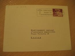 DELEMONT 1959 To Bern Archery Marque Produits Suisses Cancel Frontal Front Cover SWITZERLAND - Brieven En Documenten