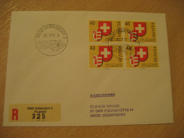DUBENDORF 1978 Plain Cancel Registered Cover SWITZERLAND - Cartas