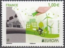 France 2016 Yvert 5046 Neuf ** Cote (2017) 2.00 Euro Europa CEPT Pensez En Vert - Francia