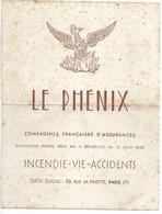 Buvard Grand Format Le Phénix. - Bank En Verzekering