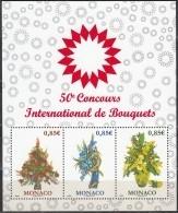 Monaco 2017 Bloc Feuillet Concours International Des Bouquets Neuf ** - Blocks & Kleinbögen