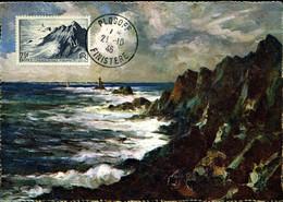 POINTE DU RAZ Cachet PLOGOFF 21/10/46 Sur Carte édition Yvon - 1940-49