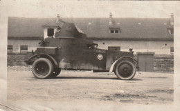 Photo MILITARIA Automitrailleuse PEUGEOT RENAULT PANHARD ROLLS ROYCE ? - Krieg, Militär
