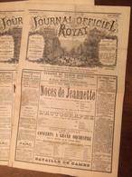 Journal Officiel De Royat. 2 Numéros De 1890. - 1850 - 1899