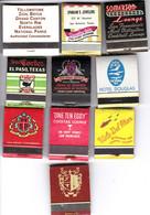 USA-10 Pochettes Allumettes Publicitaires Etats Unis - Matchboxes