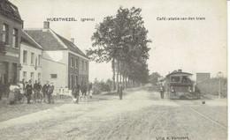 Wuestwezel (Grens) Café Statie Van De TRAM Vapeur 1910 - Wuustwezel