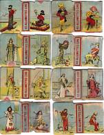 8 FACADES BOITE 40 ALLUMETTES EN CIRE-CHROMOS G. HOUBRAS - Matchboxes