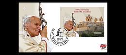 Malta.2020.The 100th Anniversary Of The Birth Of Pope John Paul II.FDC. - Popes