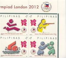 2014 Philippines London 2012 Olympics Complete Block Of 4 MNH - Philippinen