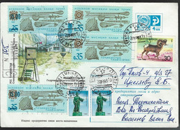 Tajikistan. Scott # 3,5 Used Cover . Commemorative Stamps. 1993 - Tajikistan