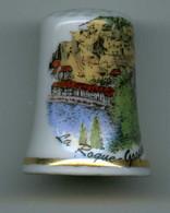 Dé à Coudre De Collection En Porcelaine - LA ROQUE GAGEAC - Dés à Coudre