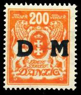 DANZIG DIENST Nr 38 Postfrisch X60D752 - Danzig