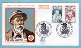 FDC France 1965 - Croix Rouge 1965 - YT 1466 Et YT 1467 - 06 Cagnes Sur Mer - 1960-1969