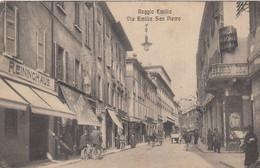 REGGIO EMILIA-VIA EMILIA SAN PIERTRO-ANIMATISSIMA-CARTOLINA VIAGGIATA-IL 10-9-1917 - Reggio Nell'Emilia