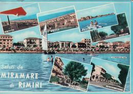 Saluti Da MIRAMARE Di RIMINI (Oblitération Linéaire De LIVRY GARGAN) - Rimini