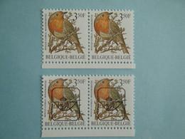 1986 Belgique Oiseaux Yv 2223 + Préo X 2 ** MNH Mi 2275 Birds   SG 2847a  Definitive - Unused Stamps