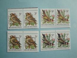 1986 Belgique Oiseaux Yv 2187/7a + Préo ** MNH Mi 2275 Birds     Definitive - Unused Stamps