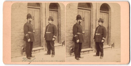 Stereo-Fotografie Unbekannter Fotograf, Polizisten In Uniform - Professions