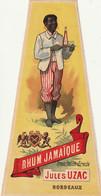 ***  ETIQUETTE *** 19/début 20eime - Grande étiquette H21cm Rhum Jamaique Jules UZAC - Rhum