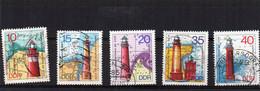 1974 DDR Mi N°1953/1957  Gestempelt, Used, Oblitéré - Lighthouses
