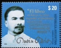 ! ARGENTINE / ARGENTINA: Writer / Ecrivain Ruben Dario (2016) MNH / Neufs *** - Unused Stamps