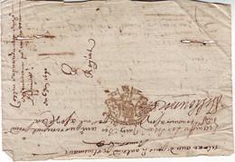 VICOMTE DE TURENNE Correze Cachet De Generalite , Document Complet 6 Juin 1690 ..... - Matasellos Generales