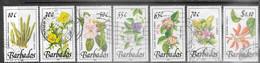 Barbados  1989    7 Plants To The $1.10  Used   2016 Scott Value $13.50 - Barbados (1966-...)