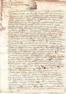 VICOMTE DE TURENNE Correze Cachet De Generalite , Document Complet 29 Avril 1696 .....  Papier Filigrane MAIN Stylisee - Matasellos Generales