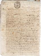 VICOMTE DE TURENNE Correze Cachet De Generalite , Document Complet 16 Octobre 1696 ..... - Matasellos Generales