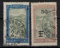 MADAGASCAR         N°  YVERT   :  188/89 (1)    OBLITERE       ( OB  9/39 ) - Usados