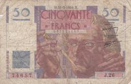 France - Billet De 50 Francs Type Le Verrier - 31 Mai 1946 - 50 F 1946-1951 ''Le Verrier''